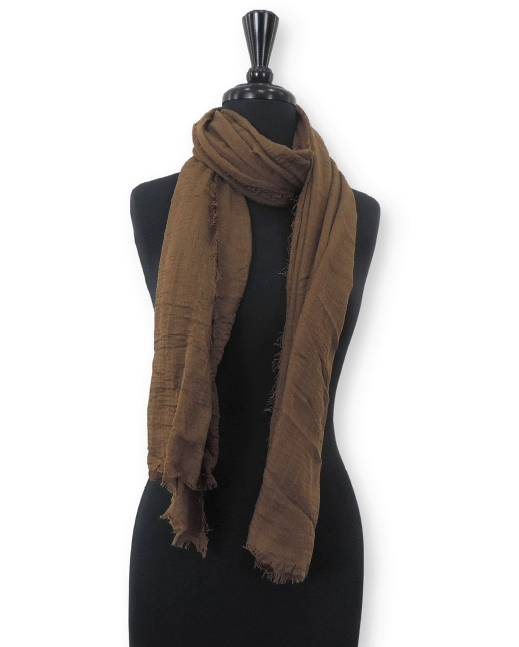 Brown Bubble Cotton Scarf - Global Trendz Fashion®