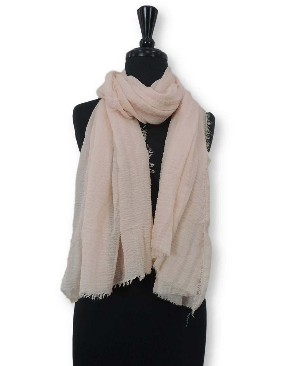 Ivory Bubble Cotton Scarf - Global Trendz Fashion®