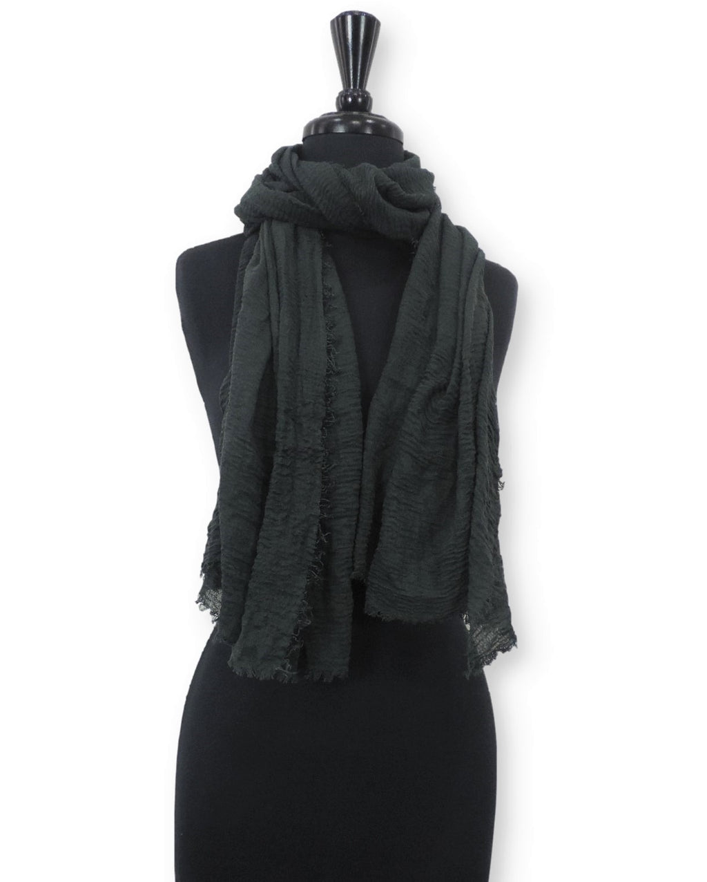 Army Green Bubble Cotton Scarf - Global Trendz Fashion®