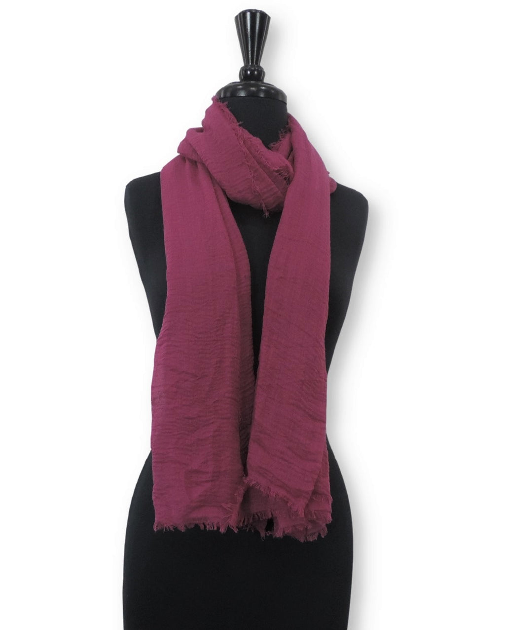 Magenta Bubble Cotton Scarf - Global Trendz Fashion®