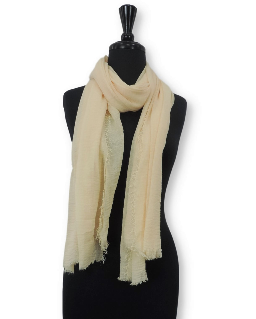 Cream Bubble Cotton Scarf - Global Trendz Fashion®