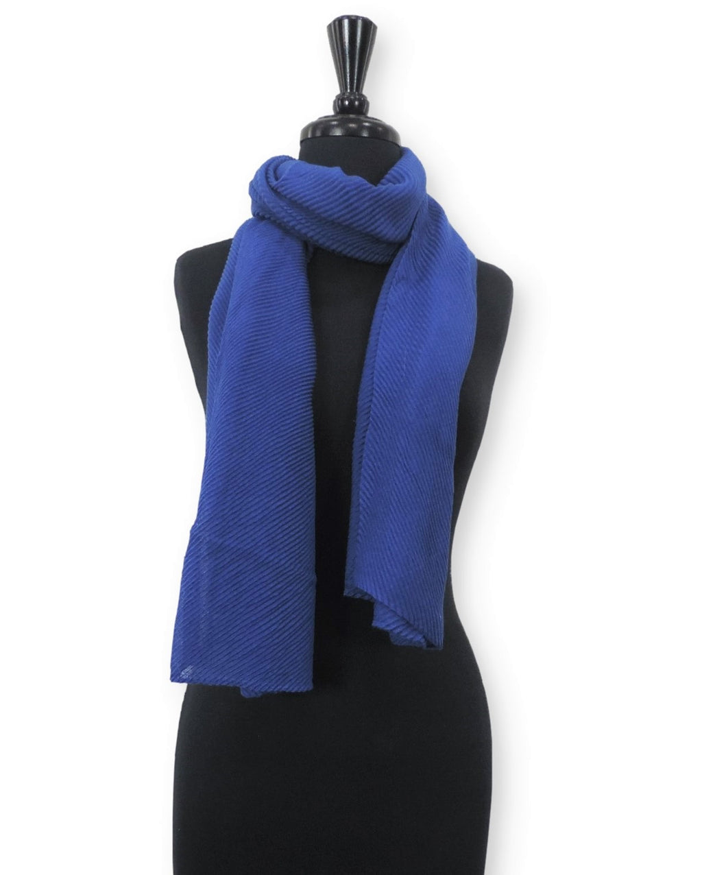 Royal Blue Cotton Wrinkle Scarf - Global Trendz Fashion®