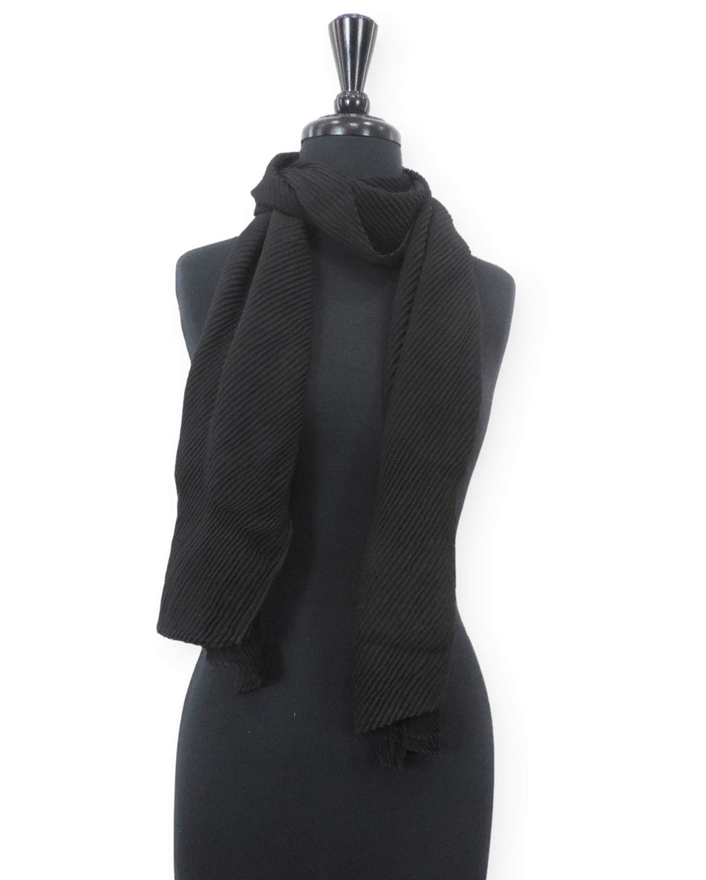 Jet Black Cotton Wrinkle Scarf - Global Trendz Fashion®
