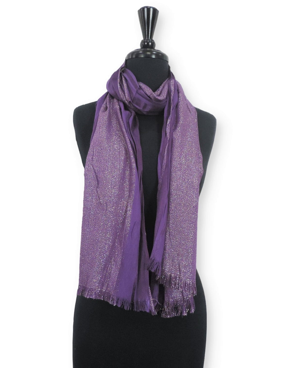 Violet Shimmer Cotton Scarf - Global Trendz Fashion®