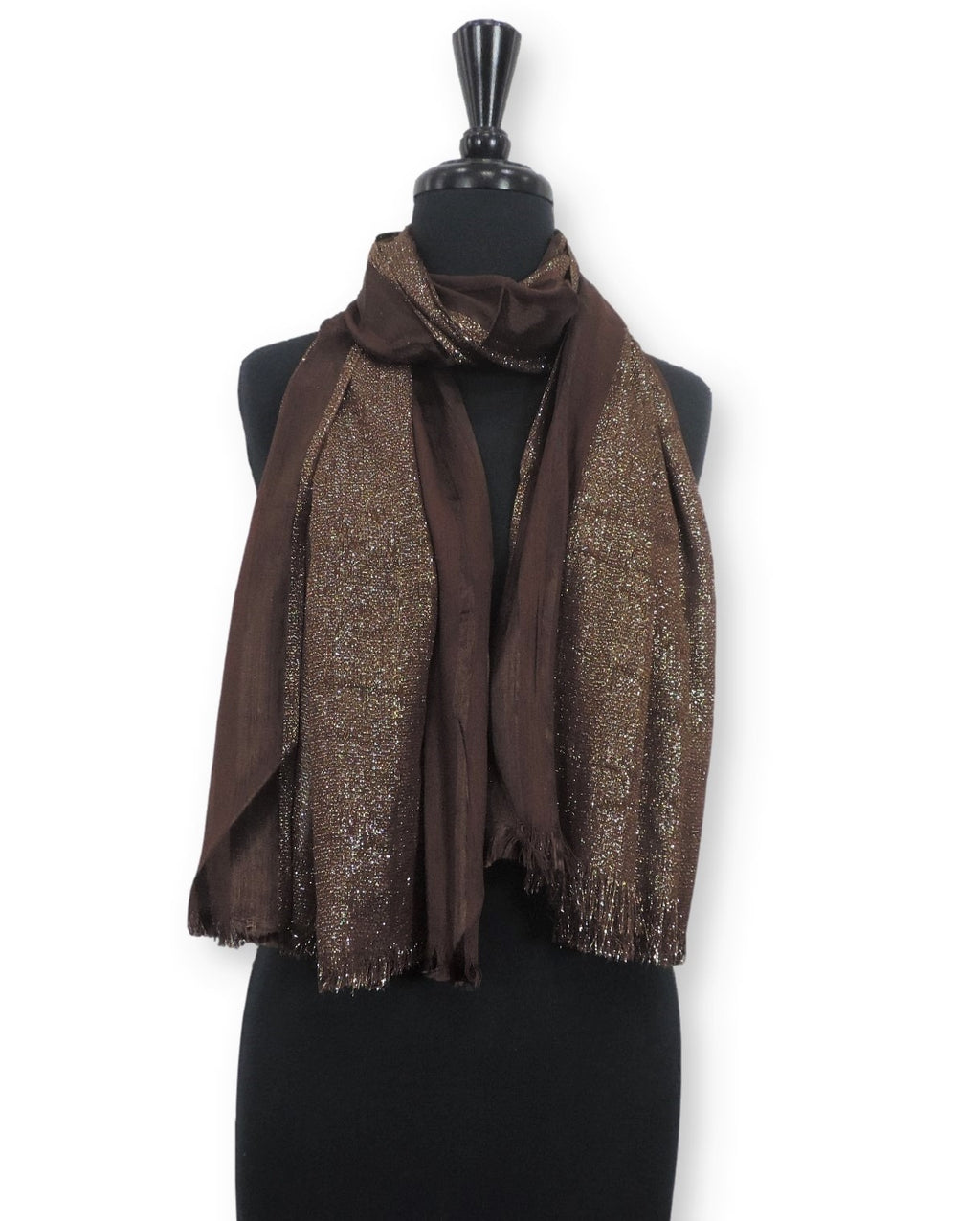 Hickory Shimmer Cotton Scarf - Global Trendz Fashion®