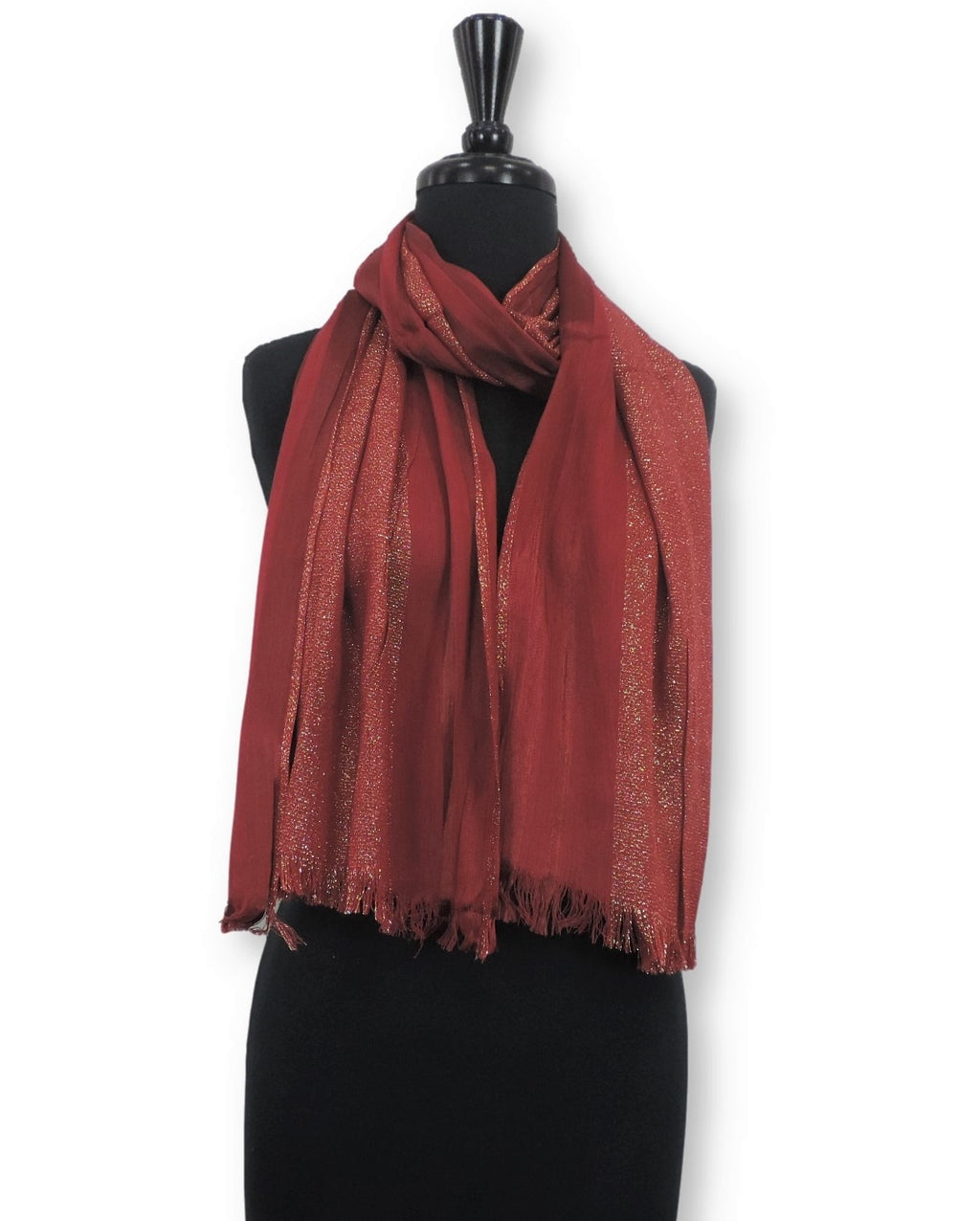 Blood Shimmer Cotton Scarf - Global Trendz Fashion®