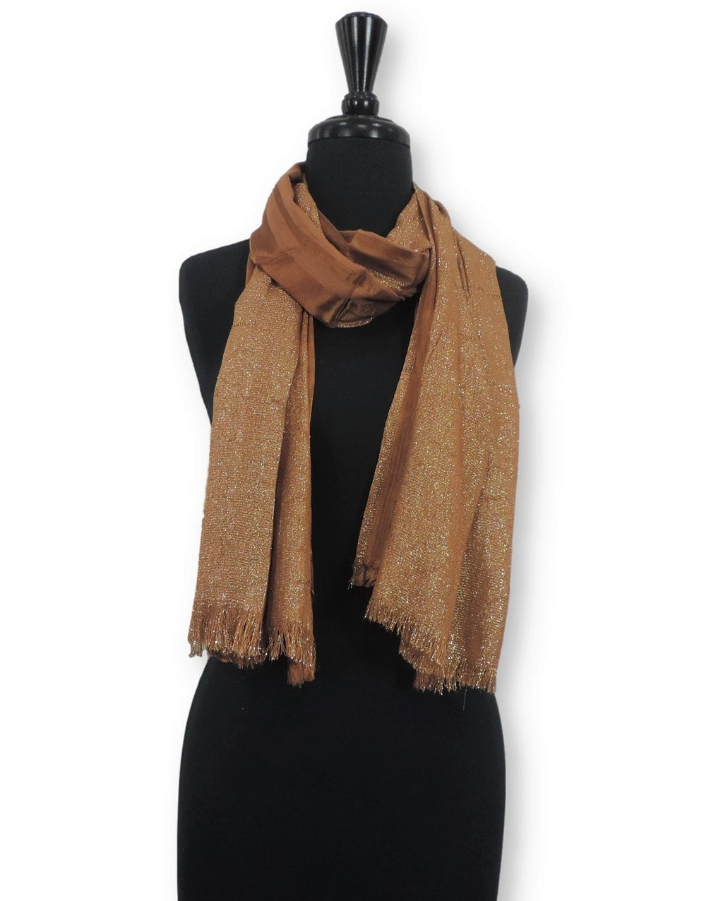 Tawny Shimmer Cotton Scarf - Global Trendz Fashion®
