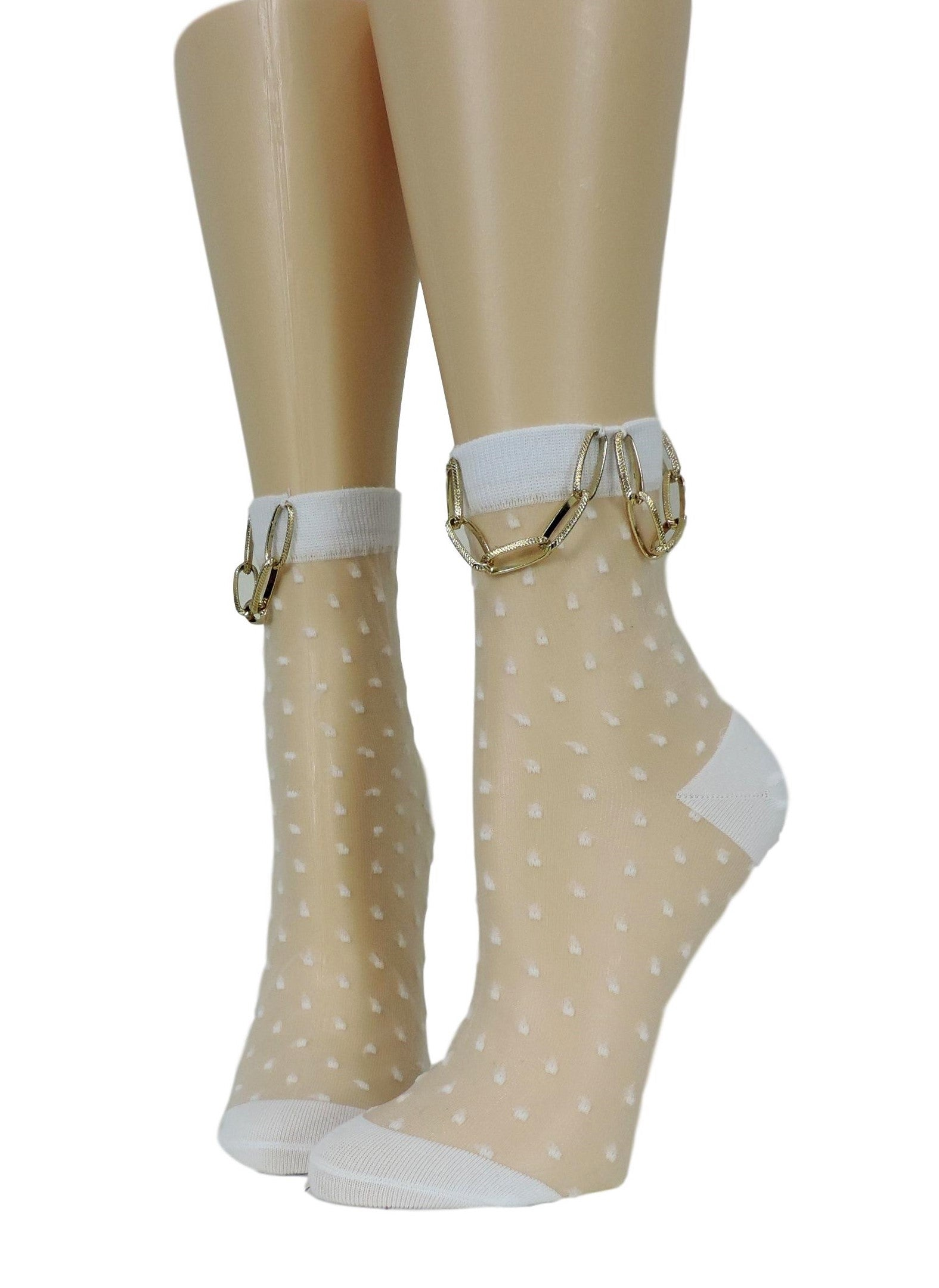 Polka Dot Hip Hop Socks with Chain - Global Trendz Fashion®