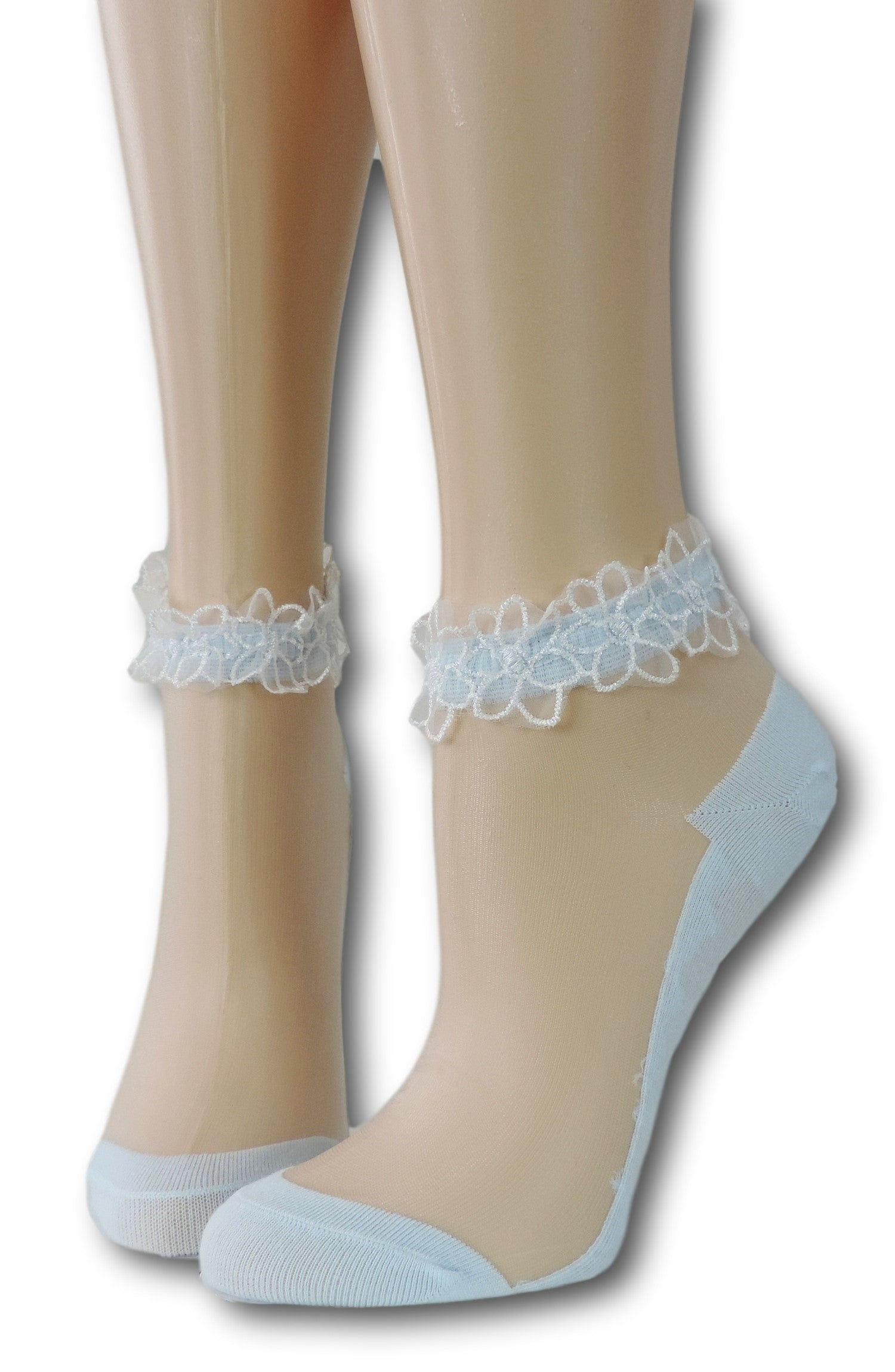 Baby Blue Ankle Sheer Socks