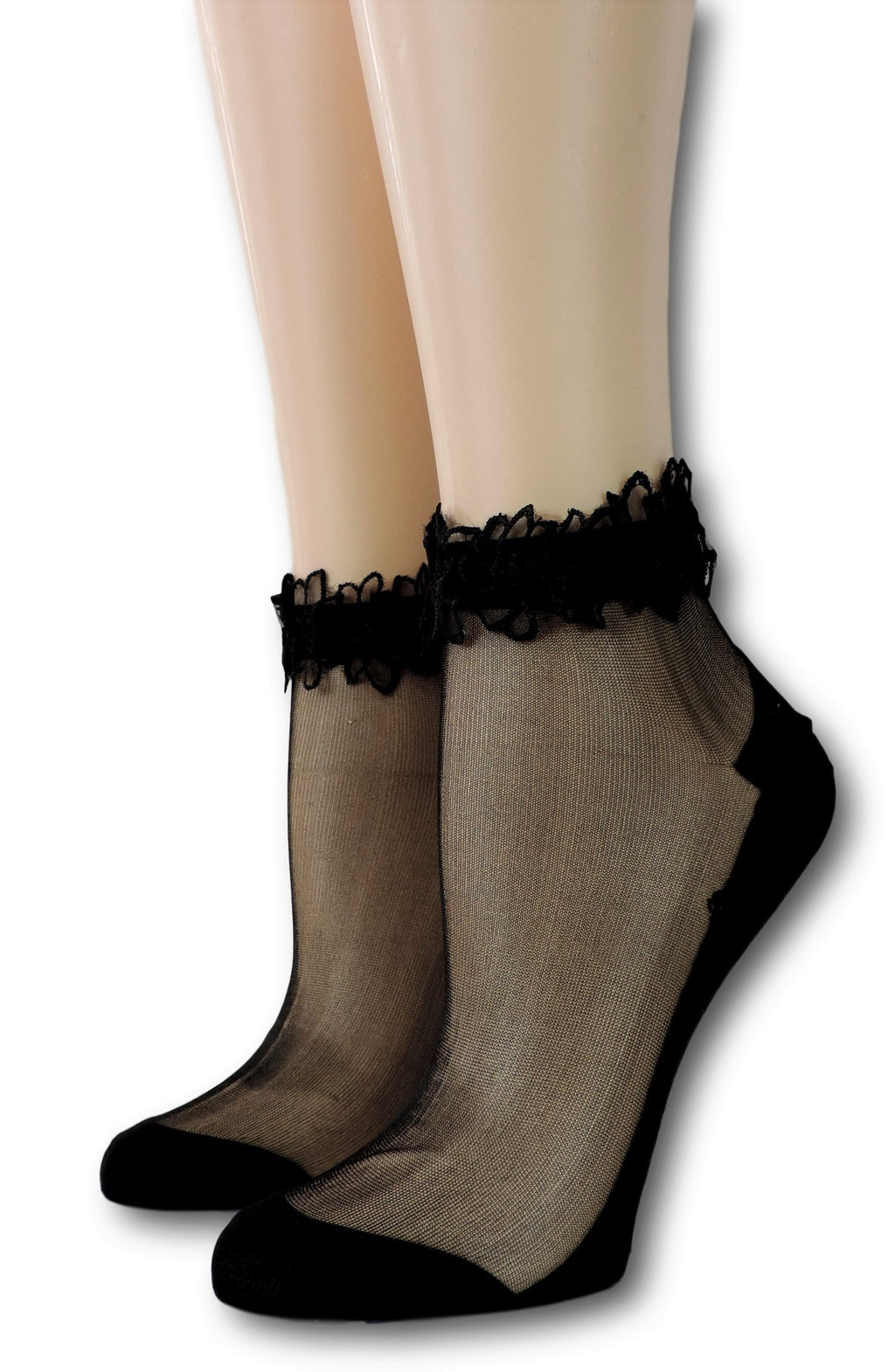 Cute Black Ankle Sheer Socks