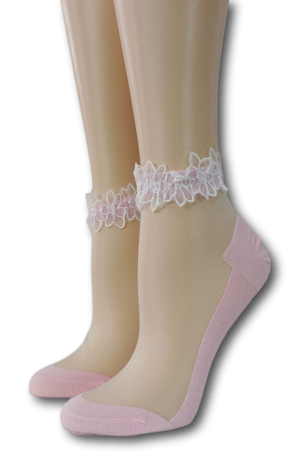 Baby Pink Ankle Sheer Socks