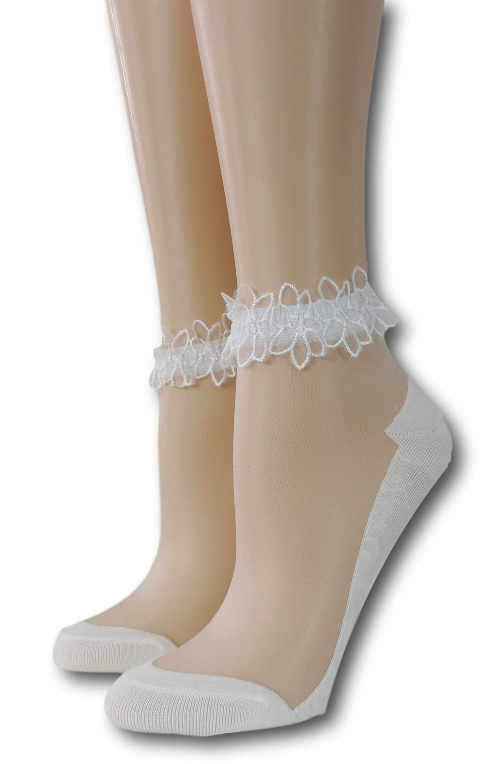 Bright White Ankle Sheer Socks