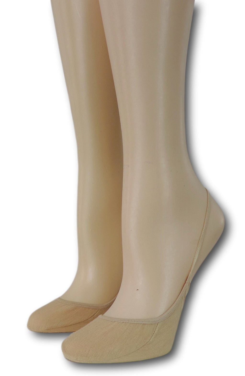 Slingback Beige Sheer Socks