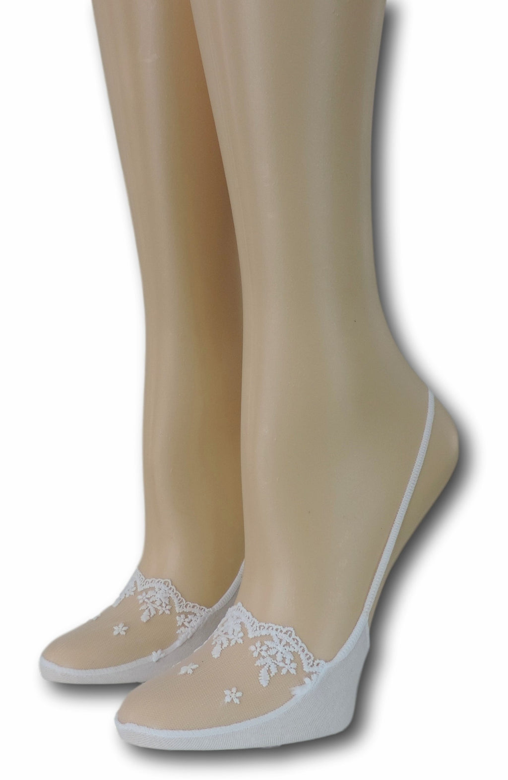 Slingback White Sheer Socks
