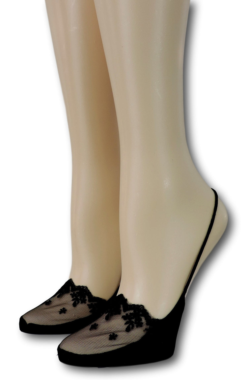 Slingback Black Sheer Socks