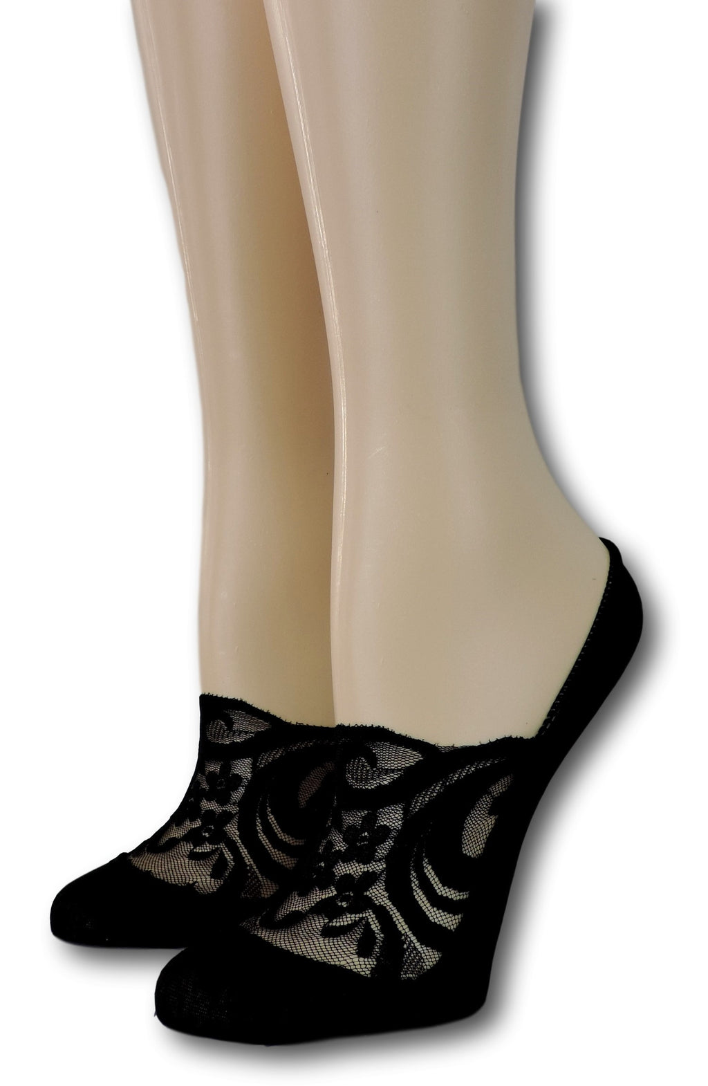 Exotic Black No Show Sheer Socks