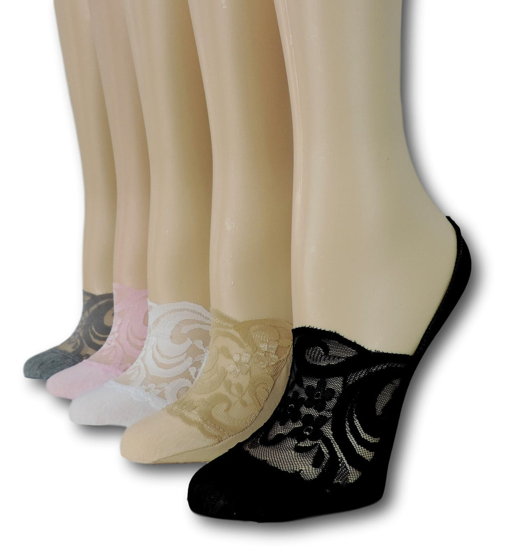 No Show Sheer Socks (Pack of 5 Pairs)