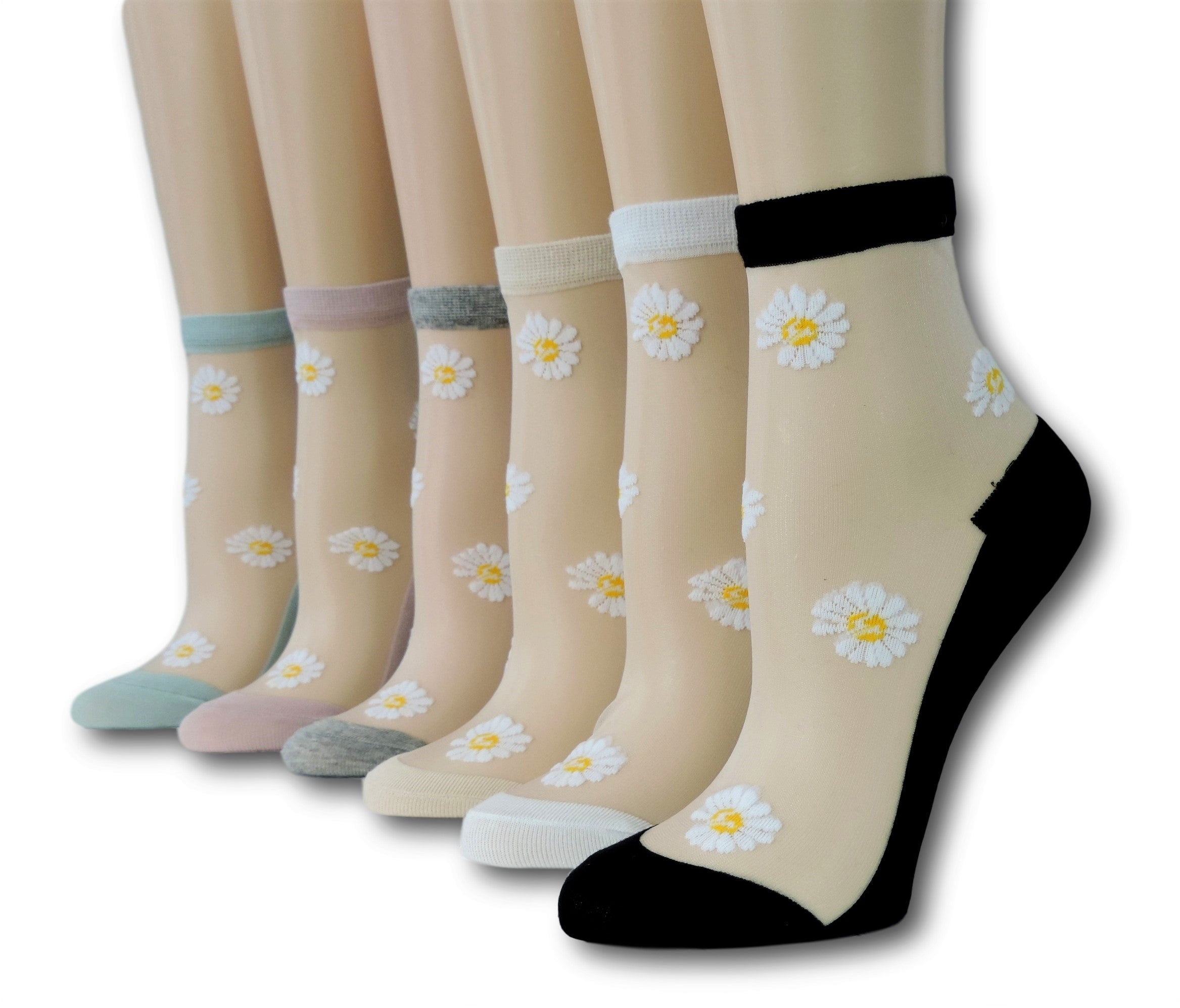 Sunflower Sheer Socks (Pack of 6 Pairs)