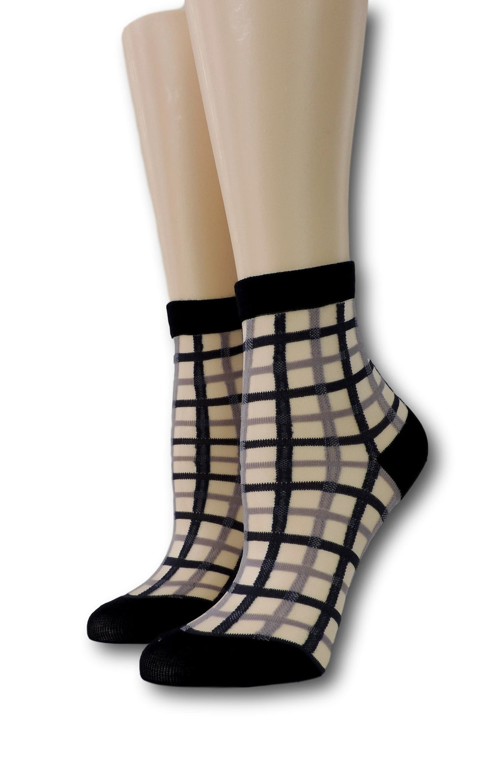 Black Vintage Sheer Socks