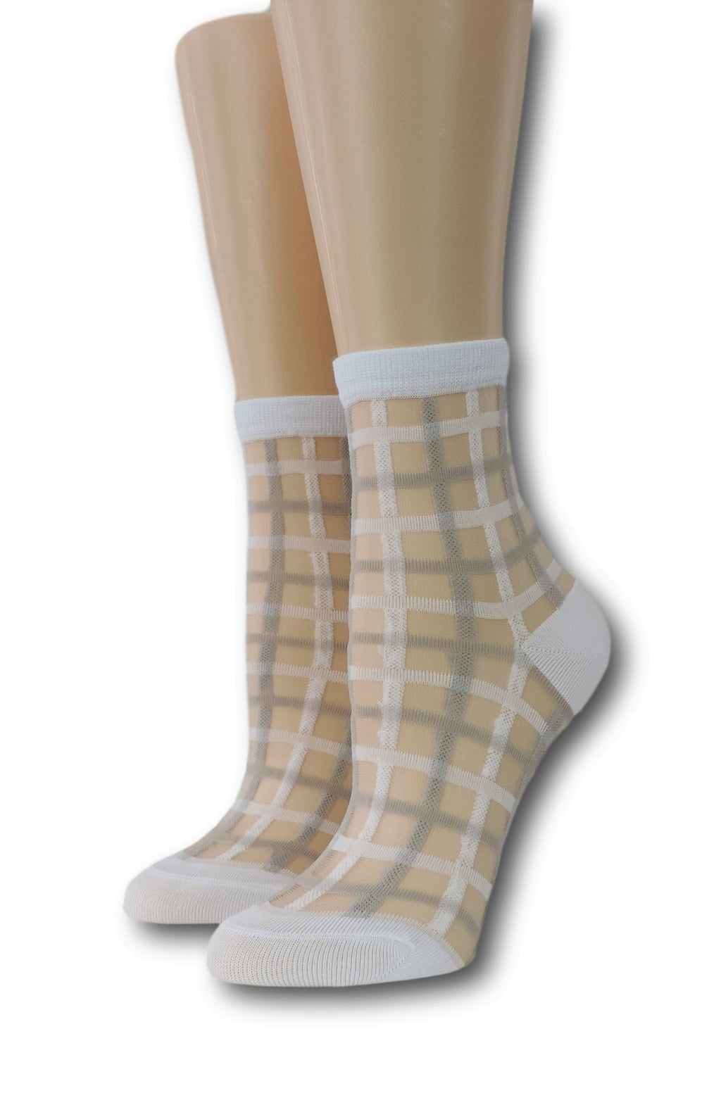 White Vintage Sheer Socks