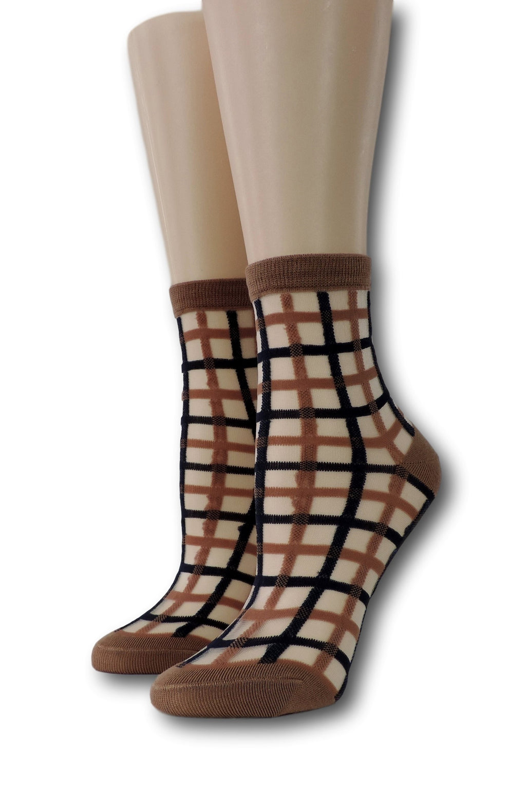Brown Vintage Sheer Socks