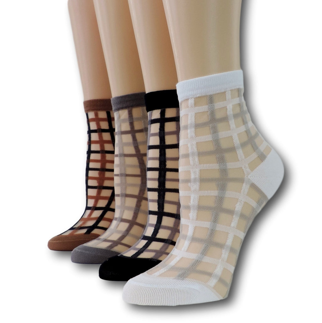 Vintage Sheer Socks (Pack of 4 Pairs)