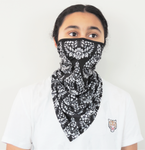 Black Floral Neck Gaiter-Global Trendz Fashion