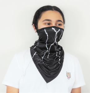 Black Marble Neck Gaiter