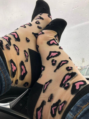Pink Heart Sheer Socks - Global Trendz Fashion®