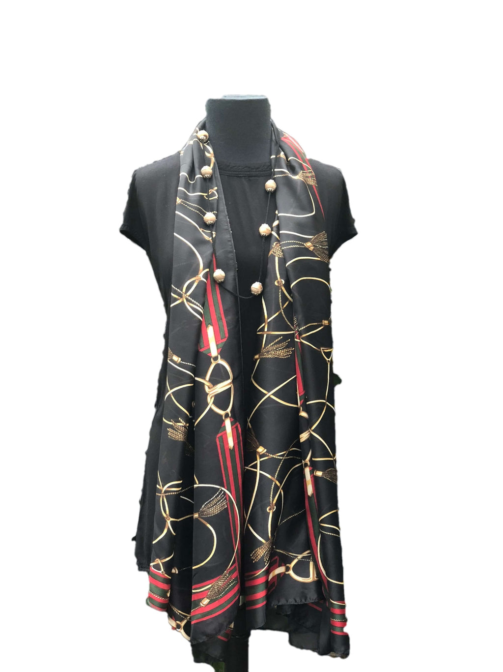 Delicate Black Printed Scarf - Global Trendz Fashion®