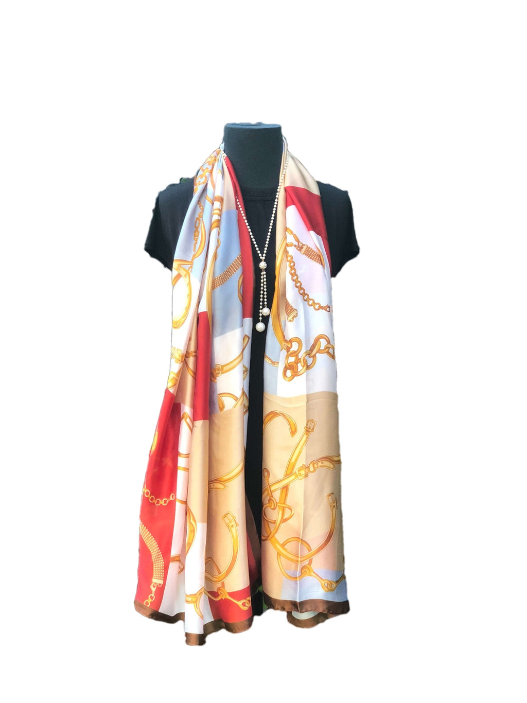 Stylish Red Yellow Printed Scarf