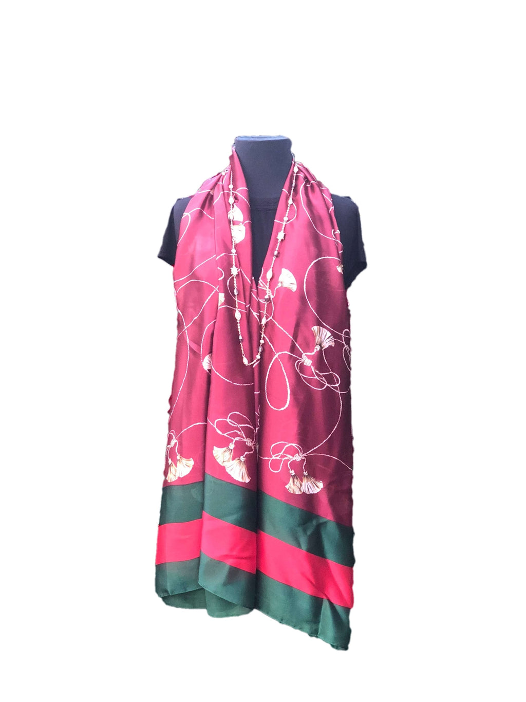 Bright Red/Maroon Patterned Printed Scarf - Global Trendz Fashion®