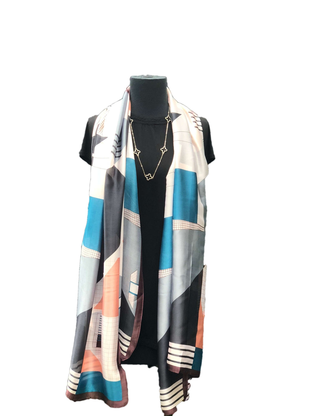 Beautiful Navy Printed Scarfs - Global Trendz Fashion®