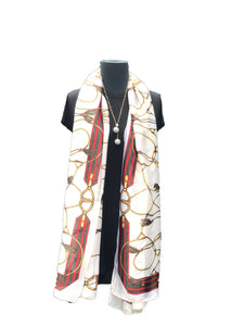 Maroon White Printed Scarf - Global Trendz Fashion®