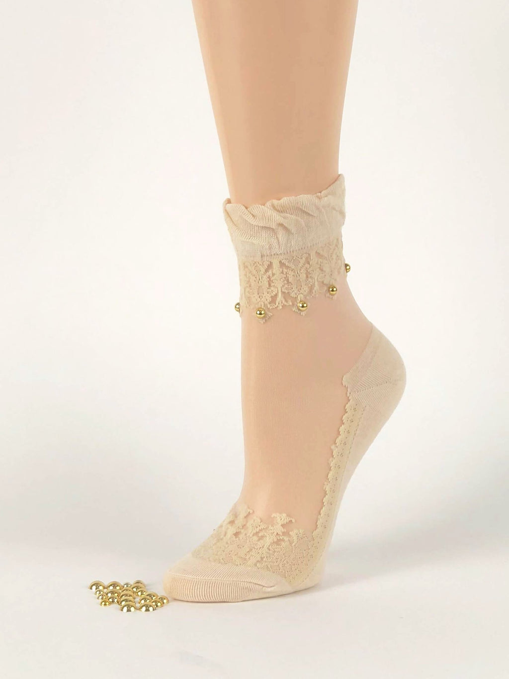 Pearled Skin Sheer Socks - Global Trendz Fashion®