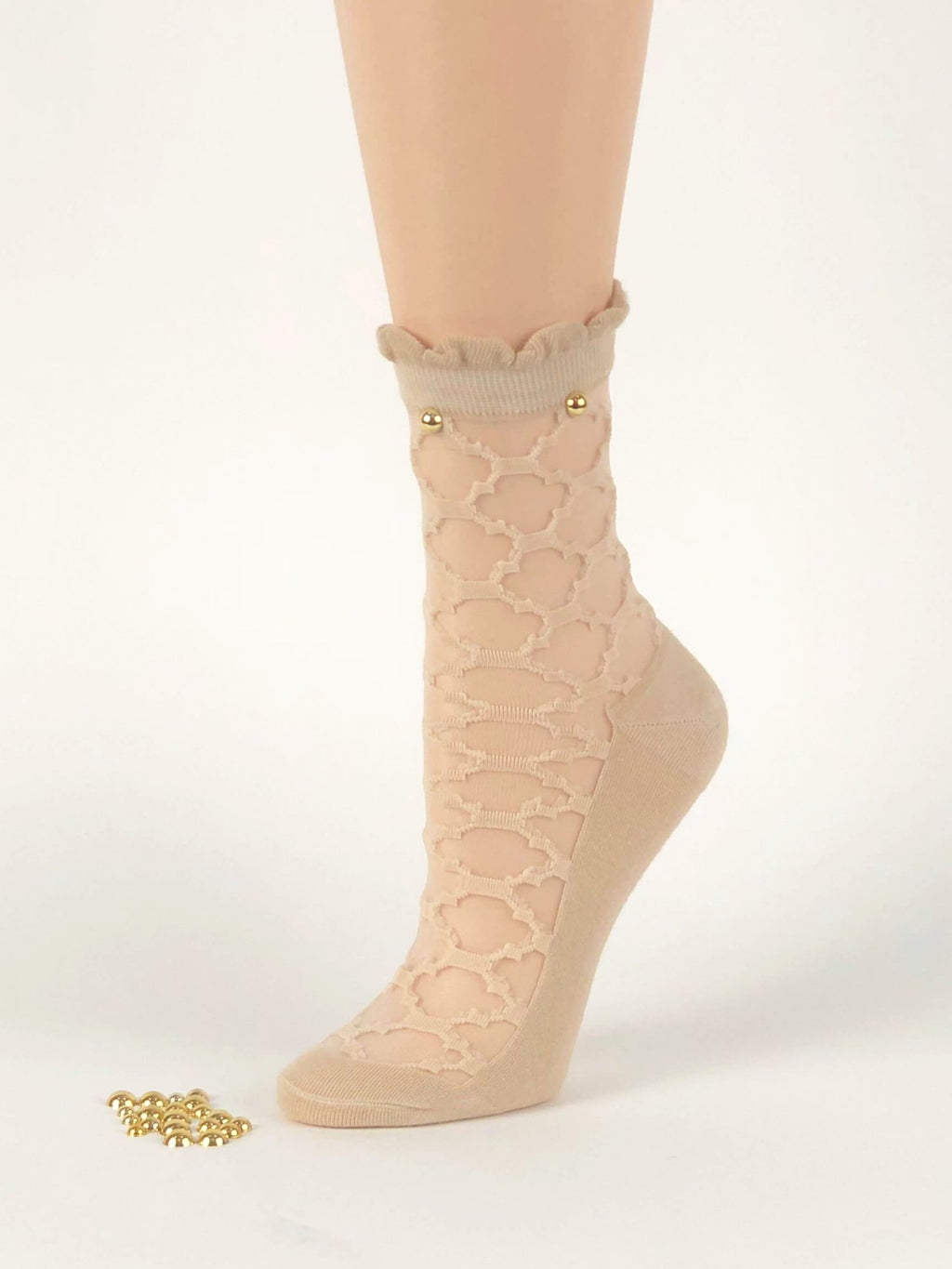 Patterned Pearl Skin Sheer Socks - Global Trendz Fashion®