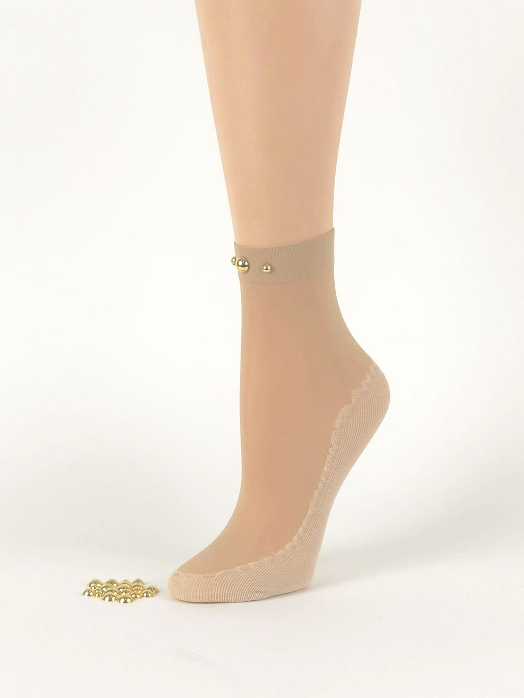 Simple Pearled Skin Sheer Socks- Global Trendz Fashion®