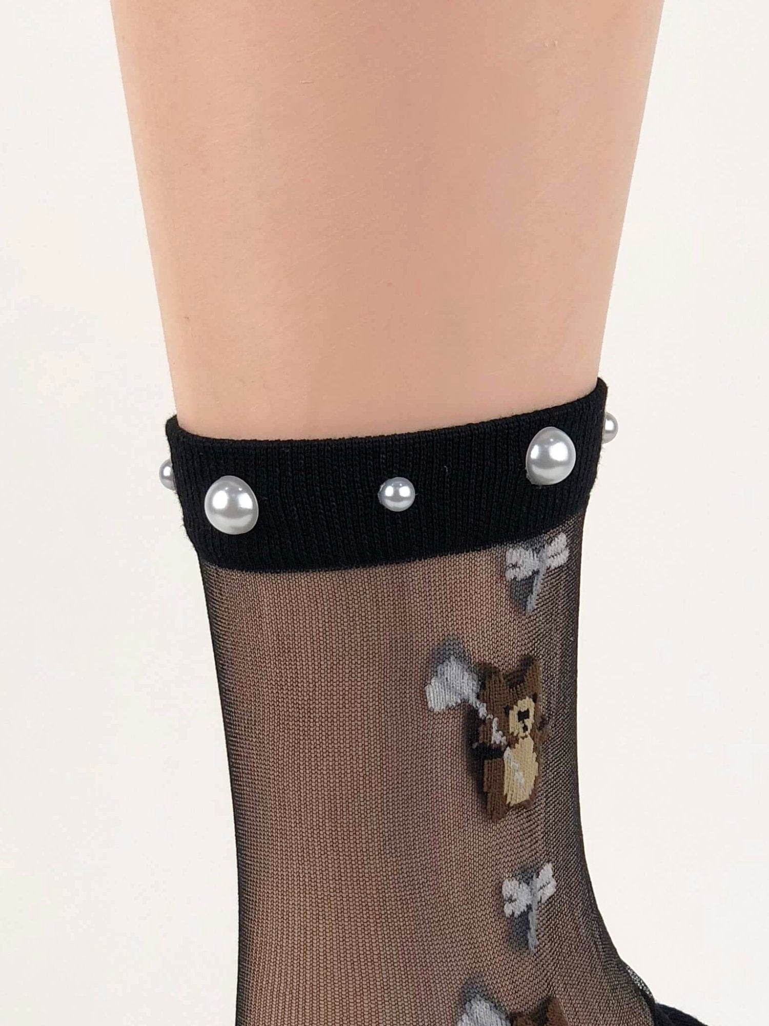 Cute Brown Bear Sheer Socks - Global Trendz Fashion®
