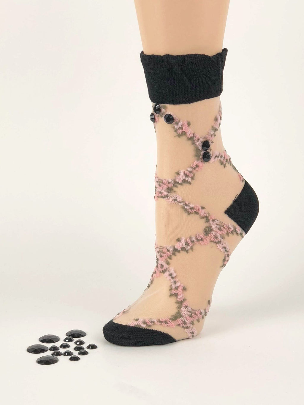 Mini Purple Flower Sheer Socks - Global Trendz Fashion®