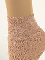 Gorgeous Baby Pink Patterned Sheer Socks - Global Trendz Fashion®