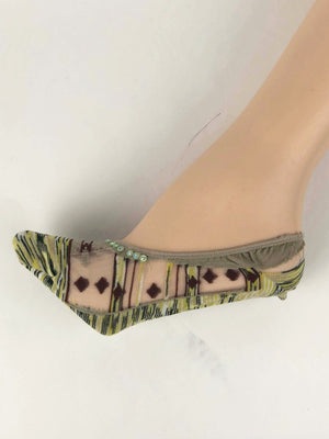 Green/Brown Patterned Ankle Sheer Socks - Global Trendz Fashion®
