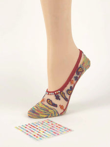 Multi-coloured Patterned Ankle Sheer Socks - Global Trendz Fashion®