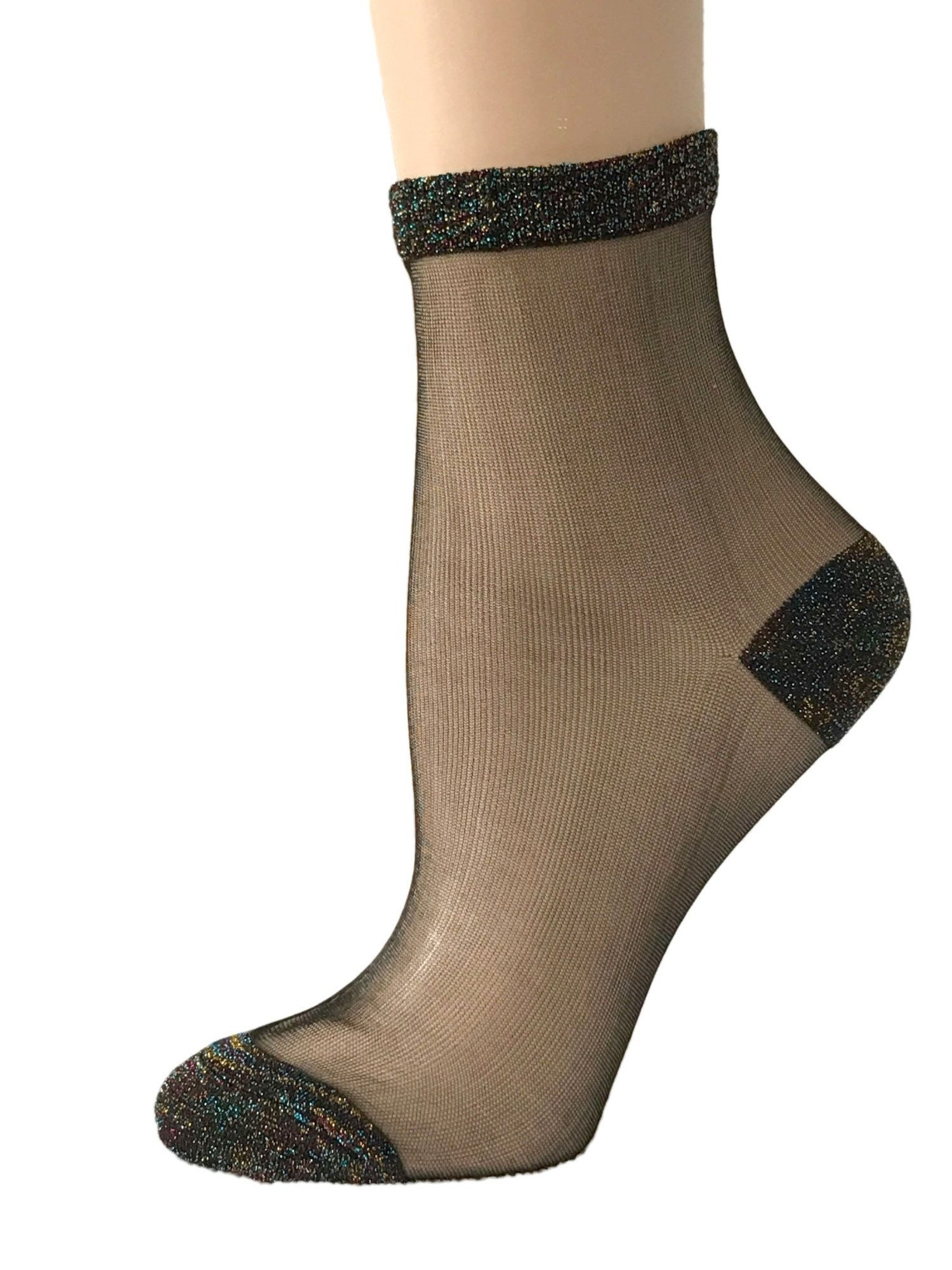 Gorgeous Multi-Coloured Glitter Socks - Global Trendz Fashion®
