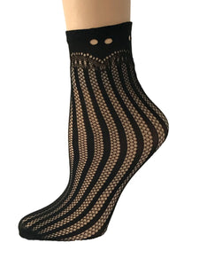 Cinderella Black Mesh Socks - Global Trendz Fashion®