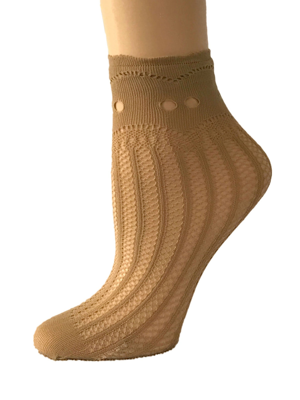 Cinderella Beige Mesh Socks - Global Trendz Fashion®