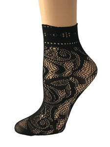 Spider Black Mesh Socks - Global Trendz Fashion®
