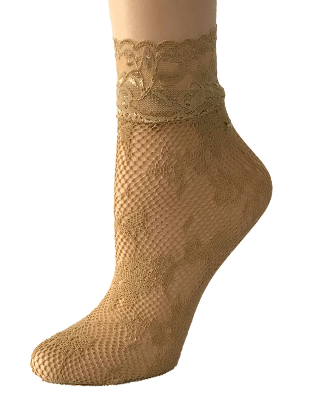 Nifty Beige Mesh Socks - Global Trendz Fashion®