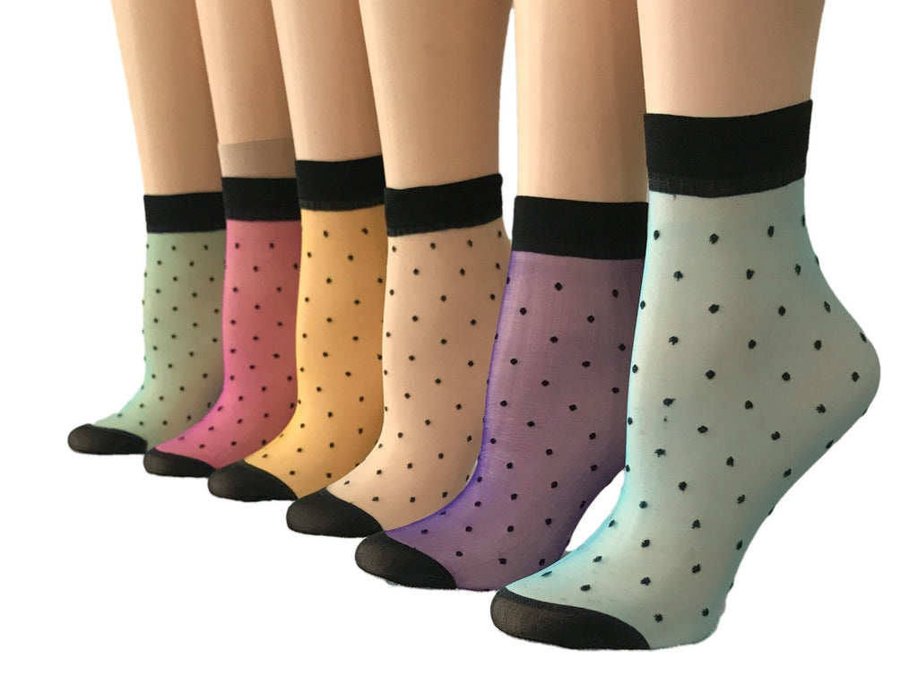 Colored Nylon Socks (Pack of 10 Pairs) - Global Trendz Fashion®