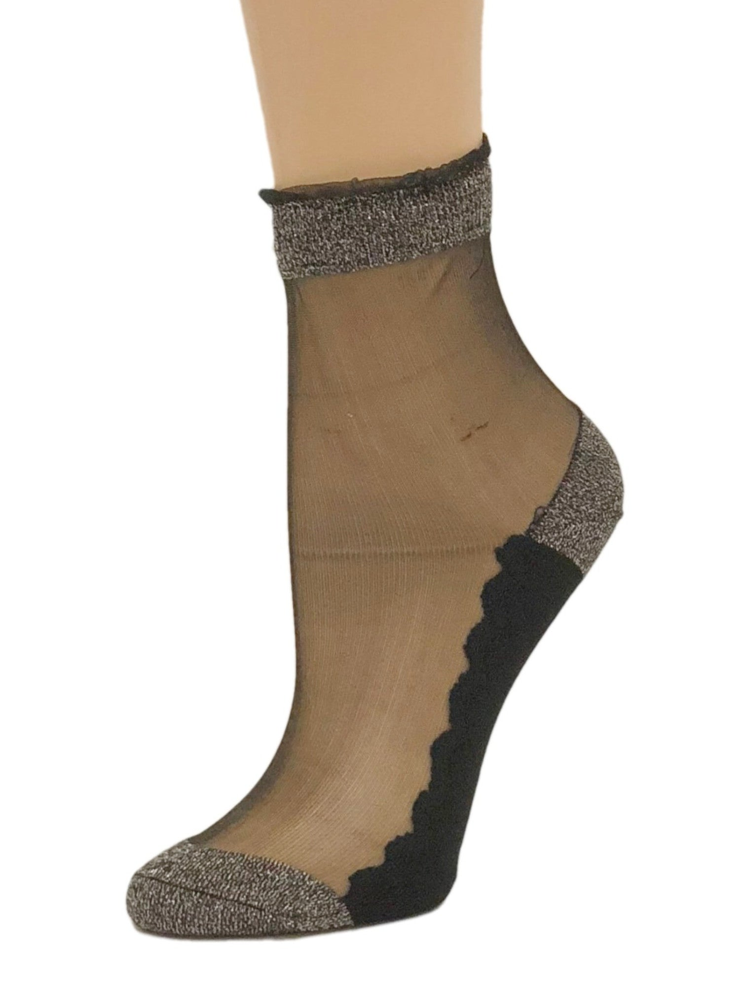 Charming Brown Glitter Socks - Global Trendz Fashion®