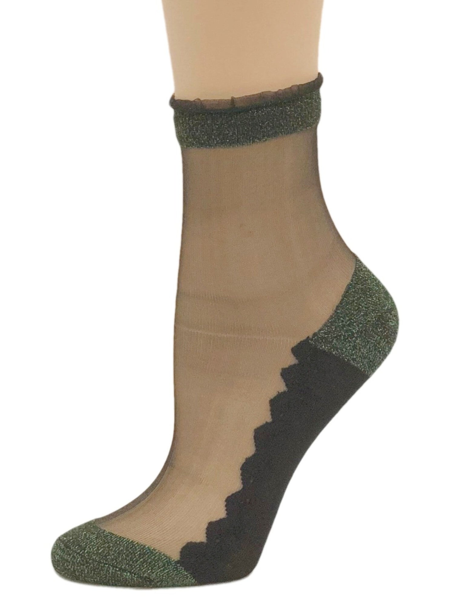 Charming Green Glitter Socks - Global Trendz Fashion®